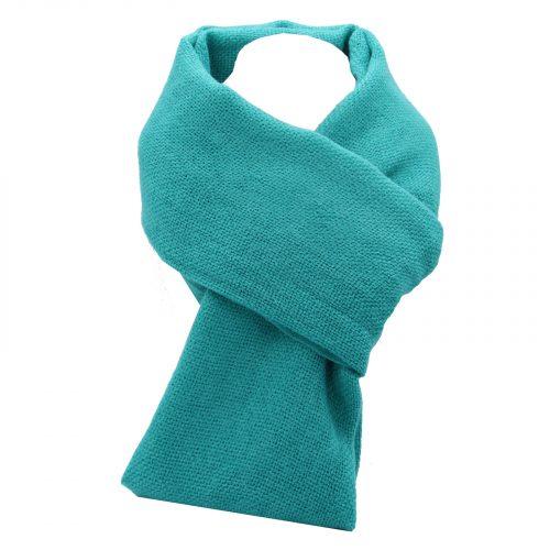 écharpe turquoise en laine