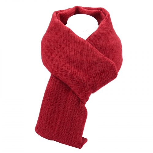 écharpe rouge foncé en laine