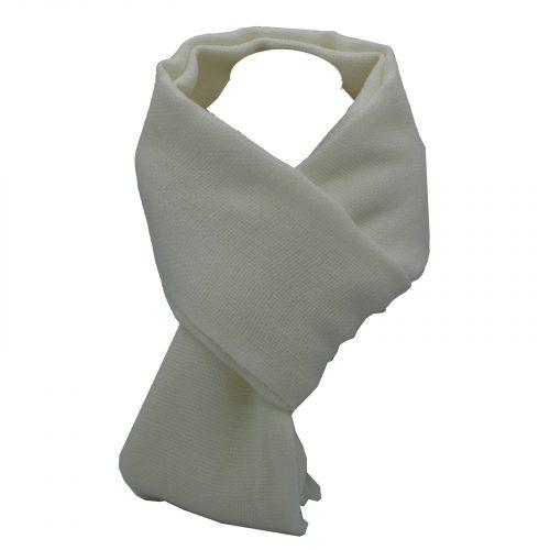 écharpe blanche en laine