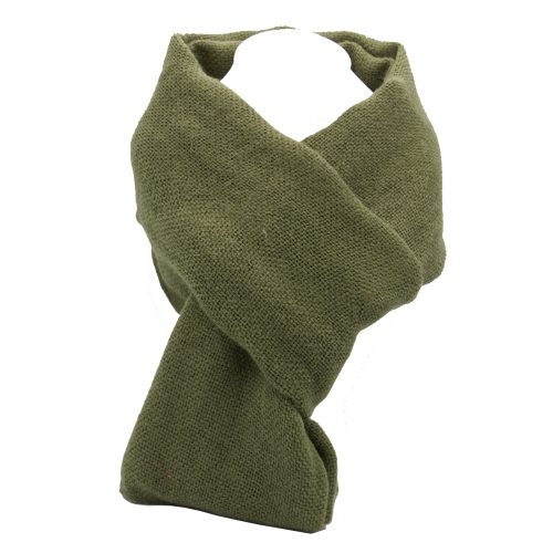 écharpe kaki en laine