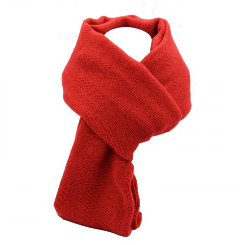 écharpe rouge en laine