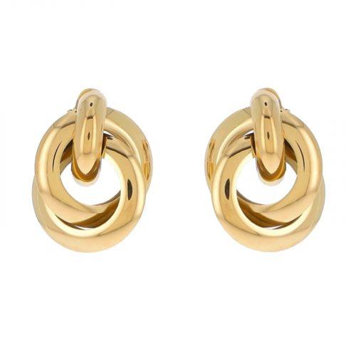 boucle d'oreille ambre dorée hazanellie