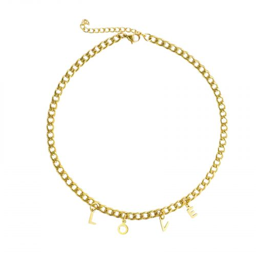 collier love dorée hazanellie